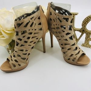 Sam Edelman Cut Out Suede Ankle Boots Booties